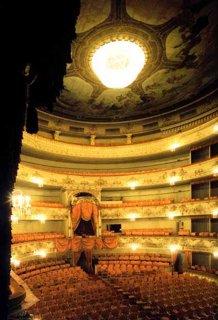План и вид зала. Театр оперы и